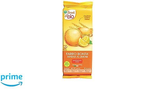 Probios Break&Bio Pastel de Espelta Relleno Al Limon - 12 paquetes: Amazon.es: Alimentación y bebidas