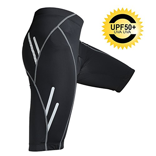Men's Cycling Shorts Padded Bike Shorts UPF50+ Cycling Tights Bike Pants Quick Dry Bicycle Cycling Underwear Shorts Night Safe for Road Bicycling MTB BMX SPIN (US Size)