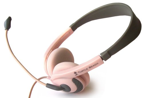 Nintendo DS Ear Force D2 Stereo Headphones + Boom Mic (Pink) by Turtle Beach