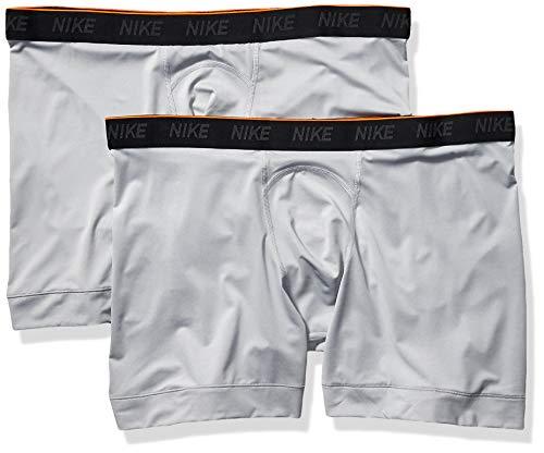 Light Roadrunner - Nike Men's Brief Boxer 2 Pack, Wolf Grey/Wolf Grey/White, XX-Large