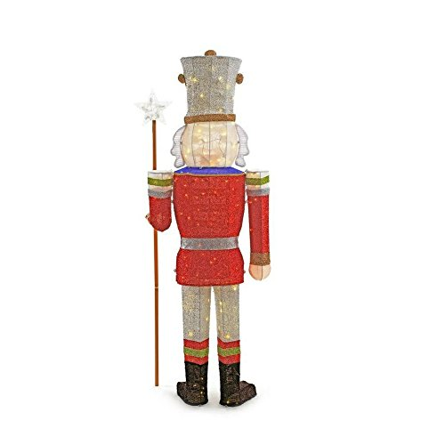 Home Accents Holiday 72 in. LED Tinsel Nutcracker and 5 ft. Pre-Lit Tinsel Nutcracker Soldier by Home Accents Holiday (Image #5)