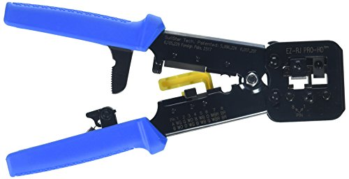 Platinum Tools 100054C Clamshell EZ-RJPRO HD Crimp Tool - Die 1 Round Wire