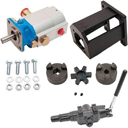 ToolTuff Log Splitter Build Kit 16 GPM Pump, Coupler, Mount, Bolts, Huskee, Speeco, etc for 3 4 Engine Crankshaft