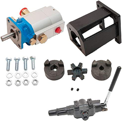 ToolTuff Log Splitter Build Kit 16 GPM Pump, Coupler, Mount, Bolts, Huskee, Speeco, etc for 3 4 Engine Crankshaft