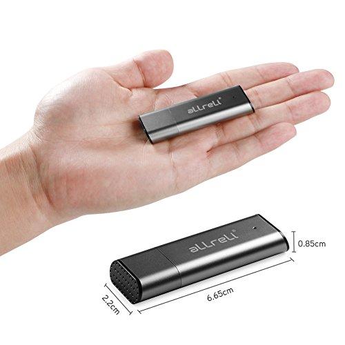 Rechargeable Cl/é USB Dictaphone Num/érique Audio Vocale Portable,Noir 8 Go Enregistreur Num/érique Vocal