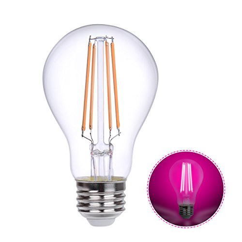 Cheap HOLA LED Grow Lights Bulb E26, LED Growing Lamp for Indoor Plants, Vegetables, Flowering, Greenhouse Plant Lights, A19 LED Filament Grow Lighting, 360° Beam Angle Pink Light, Non-Dimmable