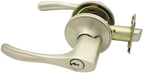 Cosmas 300 Series Satin Nickel Entry Door Handleset with 30 Series Lever