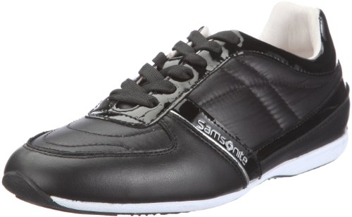 Orlando Sneaker Donna Samsonite schwarz Black Nero black mesh Leather Woman ZPq1dq7