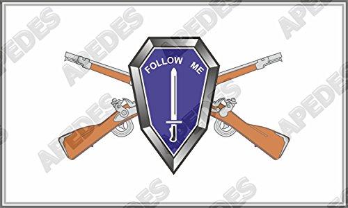 Follow Me Cross Rifles USA Army United Computer Car Decal Sticker 3x5 (Cross Rifle)