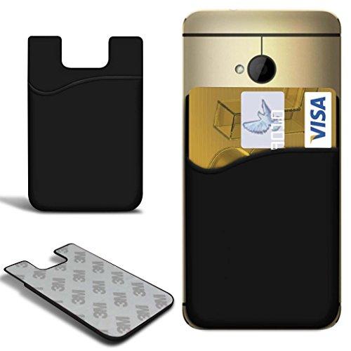 N4U Online - Apple iPhone 5 Slim bâton silicone / carte Débit Crédit Housse de fente de la peau - Noir