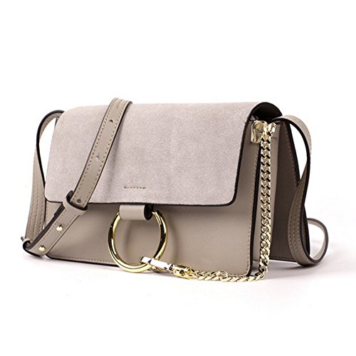 Actlure Genuine Leather Crossbody Shoulder Bag Purse Chain link