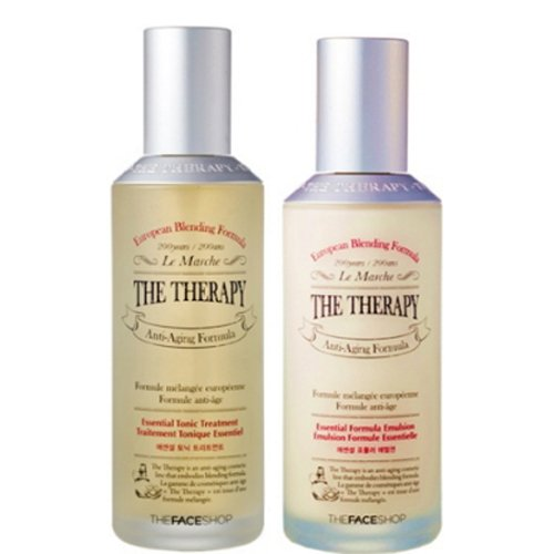 The Face Shop The Therapy ESSENTIAL Tonic Treatment & Emulsion SET Anti-Aging Formula