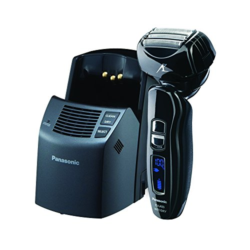 Panasonic ES-LA93-K, Arc4 Electric Razor, Men's 4-Blade with Multi-Flex Pivoting Head and Dual Motor, Premium Automatic Clean & Charge Station Included, Wet or Dry Operation (Panasonic Charging Base)