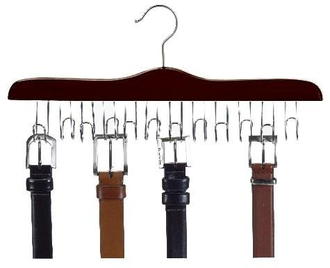 Belt Hanger Walnut (Walnut & Chrome Belt Hanger)