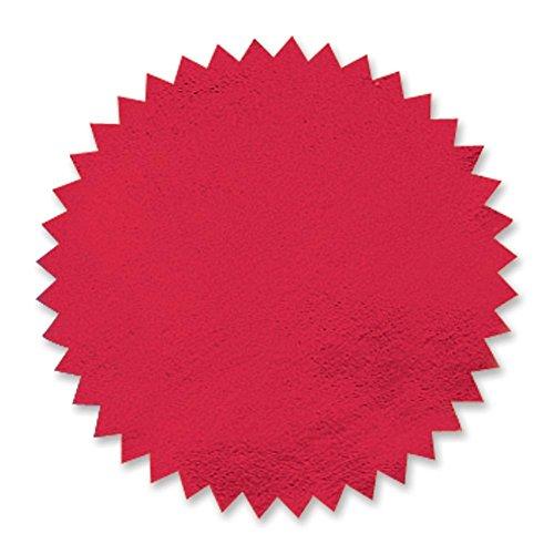 Plain Red Foil Embossing Serrated Edge Certificate Seals, 2 inch, Self Adhesive, 102 per Pack ()