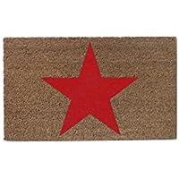 Aramis - Felpudo 73x43 Estrella Rojo-Natural c10