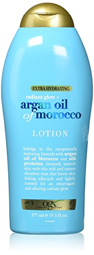 OGX Radiant Glow + Argan Oil of Morocco Extra Hydrating Lotion, 19.5 (Hydrating Lotions)