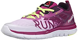 Reebok Women's Zquick Soul GP Running Shoe, Graphic Print Fierce Fuchsia/Lilac Ice/Royal Orchid/Solar Yellow/White, 9.5 M US