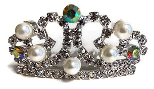 Dori's Doll Boutique Pearls and Rhinestones Tiara Crown fits American Girl and Other 18 inch Dolls ()