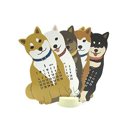 Japanese Shiba-Inu Dog 2019 Die-Cut Desktop Calendar ()