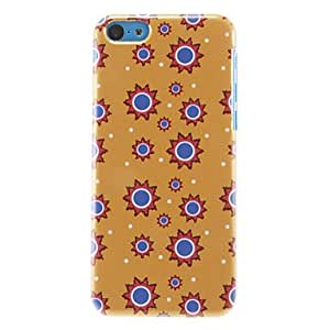 SOL Funny Blue Round Dots Pattern Hard Case for iPhone 5C