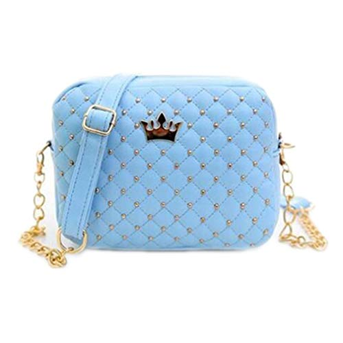 Crossbody Rivet Bolsas Sky Size Bag Design One Hombro Mujeres Chain Blue Lavender Mujeres de RSqWqdA