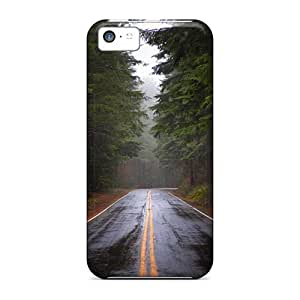 New Iphone 5c Case Cover Casing(pine Forest Road)