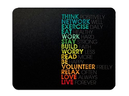 (Motivational Quote Customized Mouse Pad Rectangle Gaming Mouse mat Image05235)
