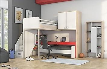 Etagenbett Mit Schrank Und Schreibtisch : Newjoy kinder jugendzimmer komplett hochbett schreibtisch schrank
