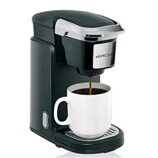 Mixpresso Single Cup Coffee Maker | Personal, Single Serve Coffee Brewer Machine, Compatible With Single Cups
