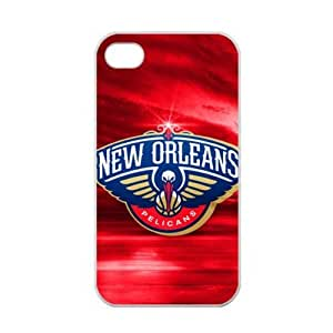 Fashionable designed iPhone 4/4s TPU Case with New Orleans Pelicans logo (Laser Technology)-by Allthingsbasketball