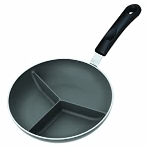 Triple divided skillet 8 inch kitchen dining for Furniture xo out of business