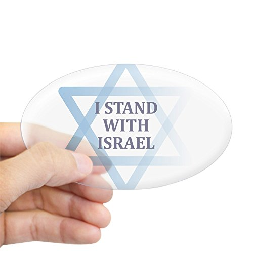 CafePress I Stand with Israel Sticker Oval Bumper Sticker, Euro Oval Car Decal -