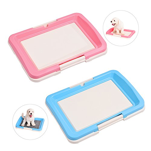 awtang Pet Training Toilet Small Sized Dog training Tray for Pets' Defecation Puppy Dog Potty Training Pad Blue by awtang (Image #6)'