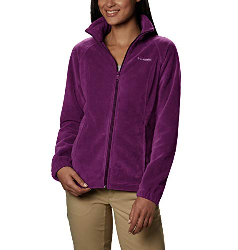 Columbia Women's Benton Springs Classic Fit Full Zip Soft Fleece Jacket, Dark Raspberry, Medium