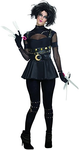 [Rubie's Costume Co Women's Edward Scissorhands Female Scissorhands Costume, Multi, Medium] (Edward Scissorhands Womens Halloween Costume)