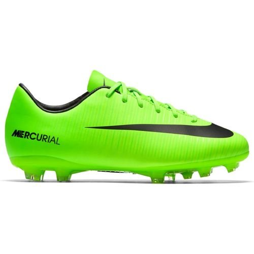 Nike Jr. Mercurial Victory VI FG Soccer Cleat (1.5) Electric Green (Shoes Jr Fg Soccer Outdoor)