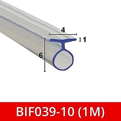 Suave sello de goma flexible para mampara de ducha, para puertas plegables, se adapta a un canal de 4 mm BIF039: Amazon.es: Bricolaje y herramientas
