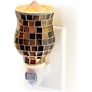 Dawhud Direct Mosaic Glass Plug-in Fragrance Wax Melt Warmers (Radiant Sienna)