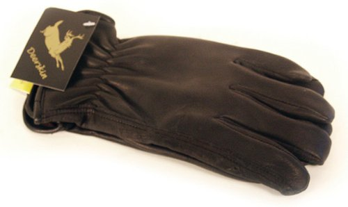 Lined Leather Driver (Napa Deerskin Leather Driver Lined Gloves (Black,)