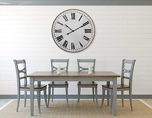 Creative Co-op White Classic Round Metal Wall Clock