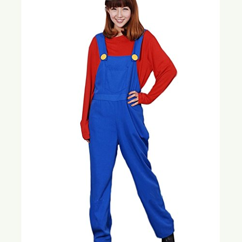 Cuterole Men's Super Mario Brothers Mario Cosplay Costume Red Version