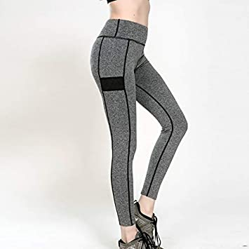 PFJWFE Pantalones de Yoga Bolsillos Polainas de Mujer Correr ...