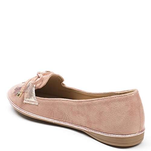 Ideal Shoes, Damen Ballerinas Rose
