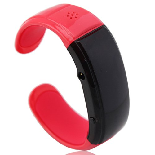 Mic Speaker vibration caller ID music Mobile Phones New Bluetooth bracelet watch Red