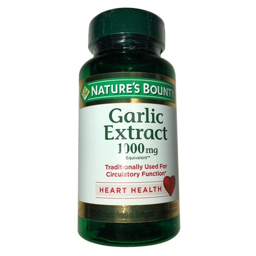 Natures Bounty Garlic Extract Softgels