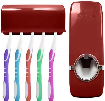 New Automatic Toothpaste Dispenser with 5 Toothbrush Holder