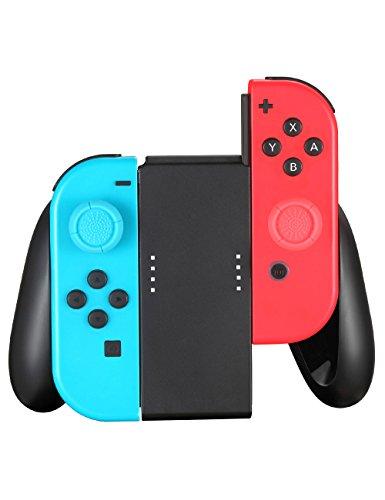 TPFOON Nintendo Switch Joy Con Controller Hand Grip, 2pcs Thumbstick Caps Included