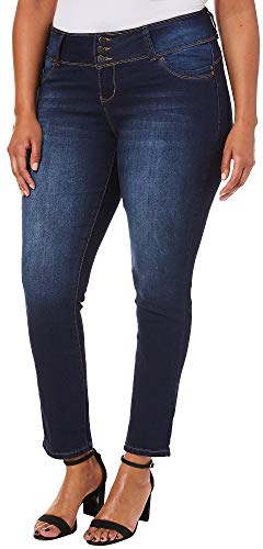 Royalty by YMI Juniors Plus Wannabettabutt Skinny Jeans 16W New Blue