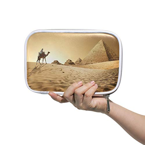 - Egyptian Sphinx and Pyramid Pencil Case Pen Organizer Pouch Stationary Case Makeup Cosmetic Bag